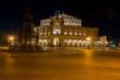 canvas print picture - Dresden bei Nacht (Semperoper)