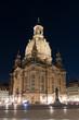 canvas print picture - Frauenkirche Dresden bei Nacht