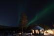 canvas print picture - Polarlicht Alta Camp Norwegen