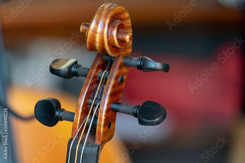 Violin detail close up instrument - 261698226