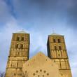 canvas print picture - Dunkle Wolken ueber St.-Paulus-Dom, Muenster, Muensterland, Nordrhein-Westfalen, Deutschland, Europa
