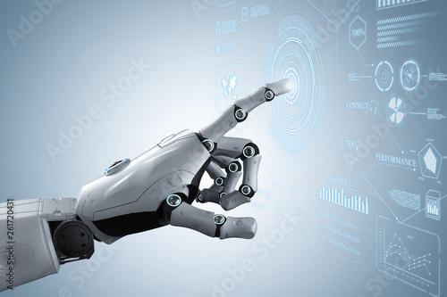 Robot hand with graphic display © phonlamaiphoto