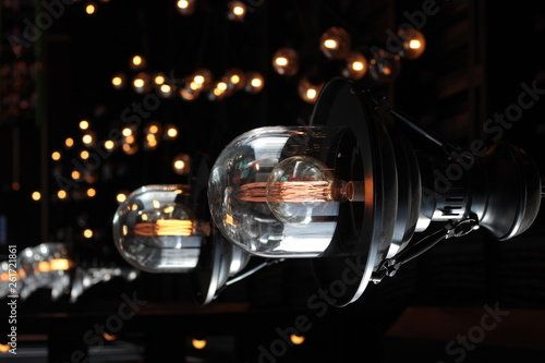 a series of large electric lanterns © Hanna