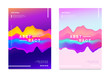 Abstract gradient poster and cover design. Colorful fluid liquid shapes. Vector illustration.