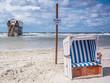 canvas print picture - Strandkorb an der Nordsee