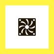disk jokey vector icon. flat design