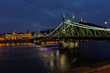 canvas print picture - Budapest night