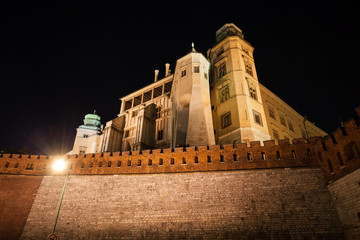 Wawel Royal Castle at Night in Poland