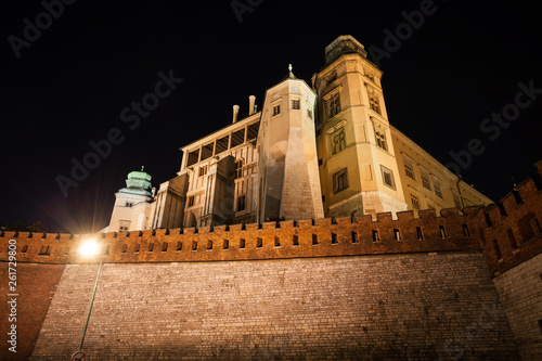fototapeta na ścianę Wawel Royal Castle at Night in Poland