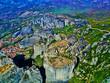 Meteora Klöster in Griechenland aus der Luft - 261763625
