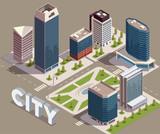 Modern City Block Composition