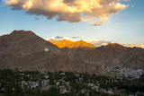 Aerial view of Ladakh, India.