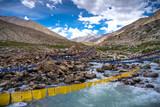 Buddhist prayer flags ,Leh Ladakh, Jammu and Kashmir, India