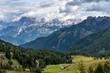 Quadro Views of the Val di Fassa in the Dolomites, Trentino Alto Adige, Italy
