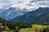 Views of the Val di Fassa in the Dolomites, Trentino Alto Adige, Italy