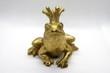 canvas print picture - Goldener Frosch mit Krone