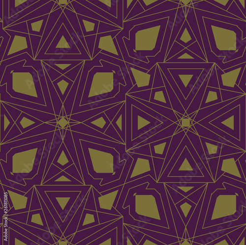 fototapeta na ścianę circle abstract elements, seamless pattern