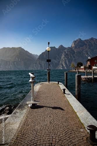 Acrylglas Pier Steg in Italien, Torbole Gardasee