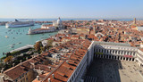 Cityscape of Venice, Italy, from the San Marco clock tower