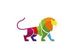 Creative Colorful Lion Logo