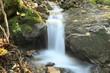 canvas print picture - kleiner Wasserfall am Bach