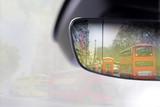 London in Spiegel von einem Auto