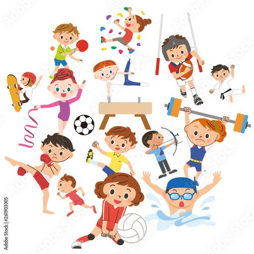 楽しくスポーツをしている人々