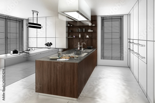Contemporary Kitchen (overview) © 4th Life Photography