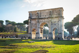 The Arch of Constantine in Rome at sunny day, Italy
