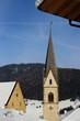 canvas print picture - Small village in winter