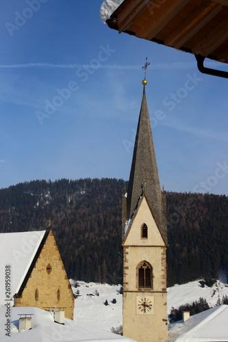 canvas print picture Small village in winter