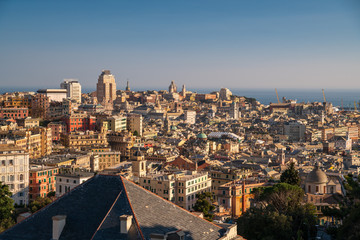 Panorama di Genova, Italia