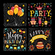 Happy Birthday party hand drawn vector illustration