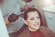 Quadro Hairdresser coloring hair
