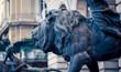 Quadro lion statue naples italy