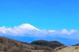 Sacred Mount Fuji (Fujiyama) in clouds, Japan