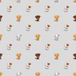 cute dogs seamless pattern - 262025453