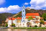 Landmarks of Austia, travel over Danaube river -Durnstein
