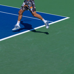 Tennis Match Lower Body Action
