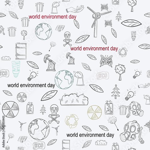 contour seamless pattern illustration_7_for the design of various objects of human life, theme for world environment day © svarog19801