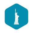Statue of liberty icon. Simple illustration of statue of liberty vector icon for web