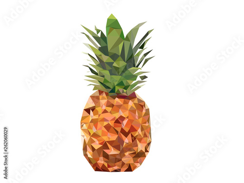 pineapple made of triangulation design on a white background - 262060029