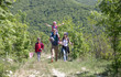 Leinwandbild Motiv Family in a hike