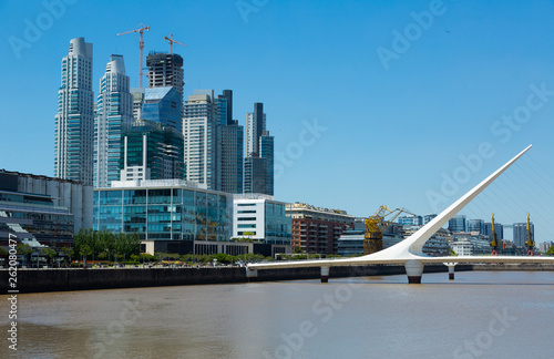 Business centers in riverfront area © JackF