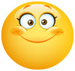 Happy cute female emoticon