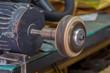 Leather edge burnisher machine
