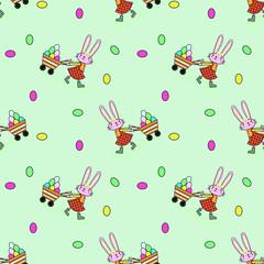 pattern con coniglietti e uova colorate