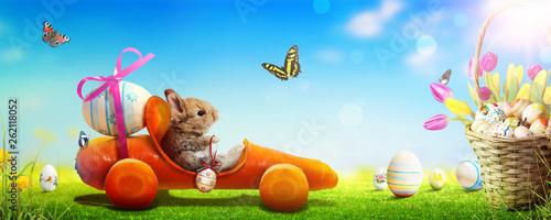 Osterhase unterwegs zum Osterfest! - 262118052