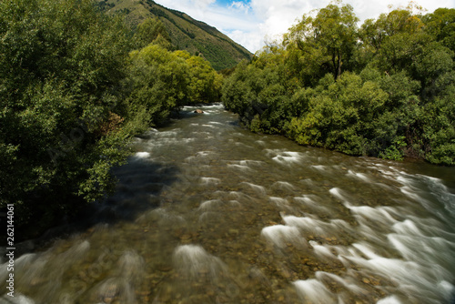 Beautiful river meandering through native bush - 262144061