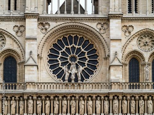 fototapeta na ścianę Notre-Dame de Paris before fire hazard